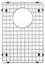 "Blanco Precis Grid (Fits Precis 16"" Equal Double Bowl)"
