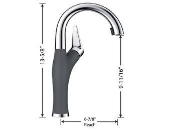 ARTONA SILGRANIT BAR/PREP FAUCET - Bath and Taps
