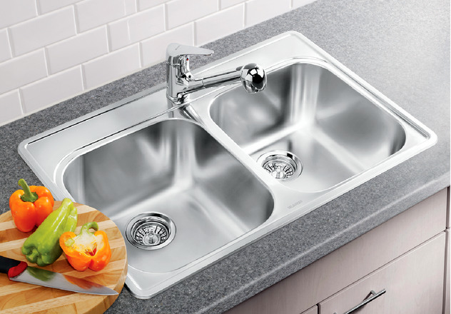 Blanco essential 2 1 hole blanco for German made kitchen sinks