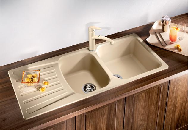 Blanco nova 8 s blanco for Coloured kitchen sinks