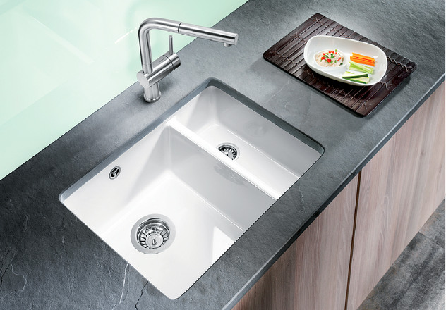 Blanco Sink Installation : BLANCO SUBLINE 350/150-U BLANCO