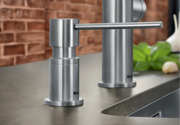BLANCO LATO 525808 Dispensador de jab/ón para Fregadero de Cocina 500 ml, Cromado