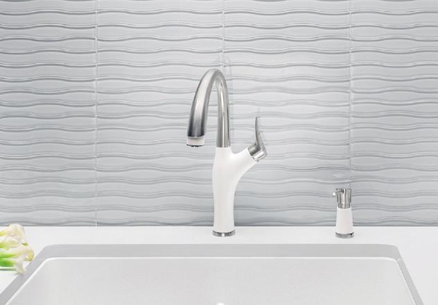 Cafe Brown//Stainless Dual Finish Blanco 442024 Artona 2.2 Bar Sink Faucet