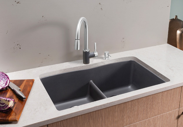 BLANCO DIAMOND™ Equal Double Bowl With Low Divide | Blanco