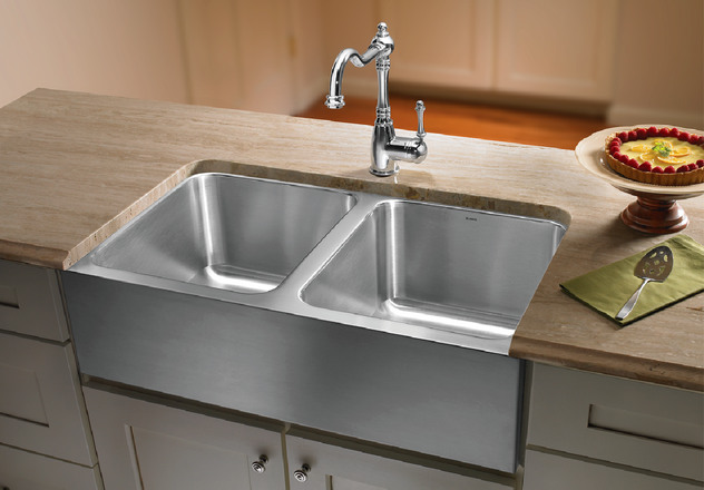 Blanco Apron Sink : BLANCO MAGNUM? Equal Double Bowl Sink with Apron Blanco