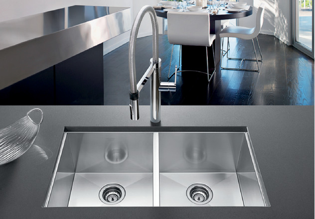 Blanco Sink Installation : BLANCO PRECISION? 16 Medium Equal Double Bowl Blanco