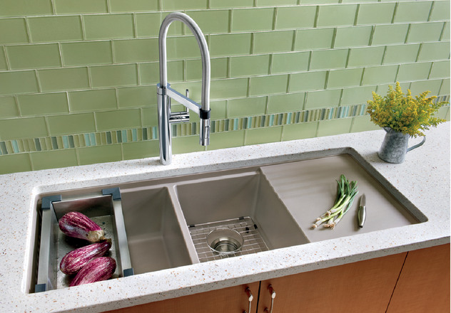 Undermount Kitchen Sink With Drainer Endearing Blanco Precis™ Multilevel 134 Bowl With Drainer  Blanco Design Ideas